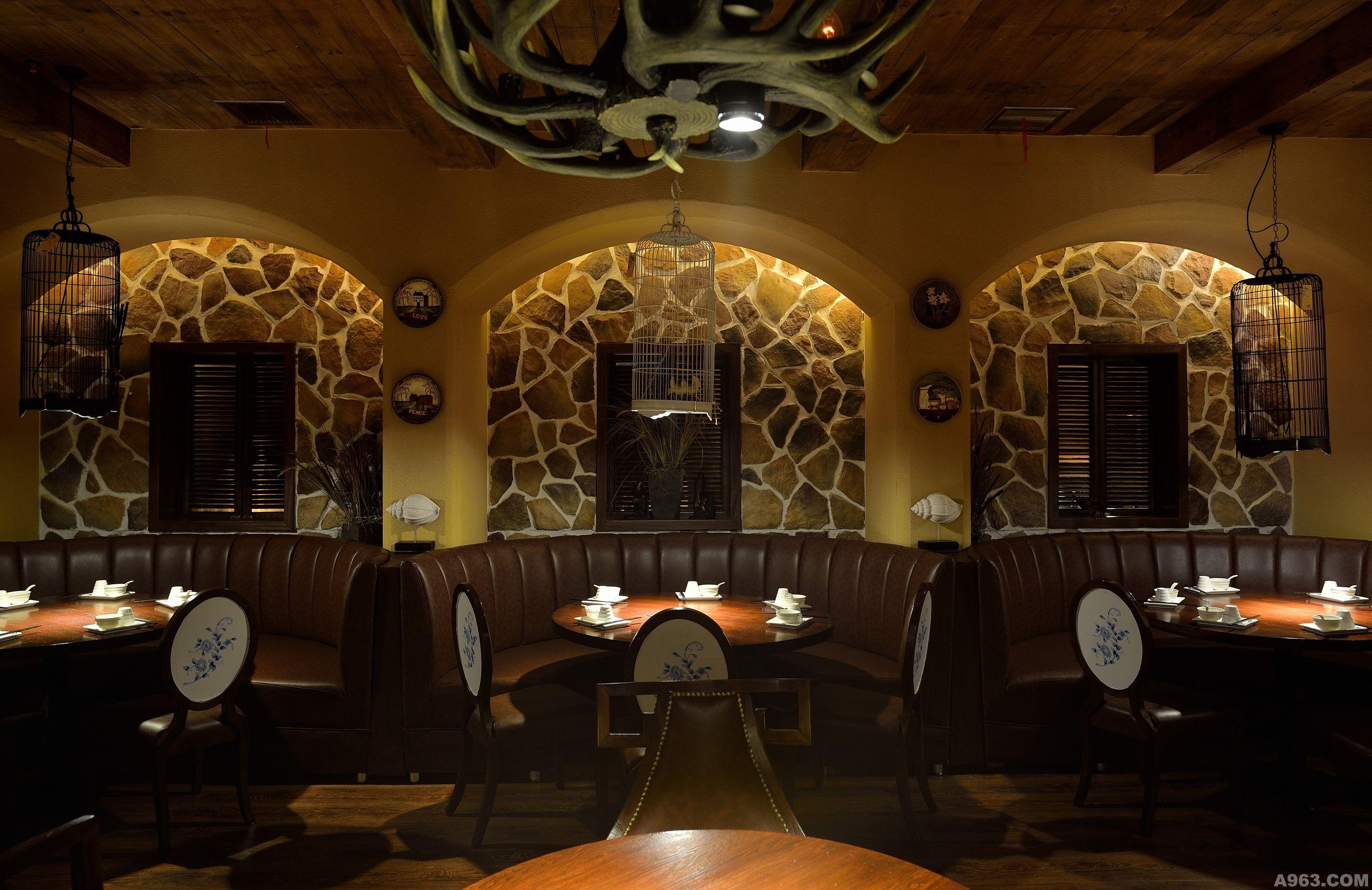 宴火- 餐饮空间 - 中华室内设计网_中华室内设计装修