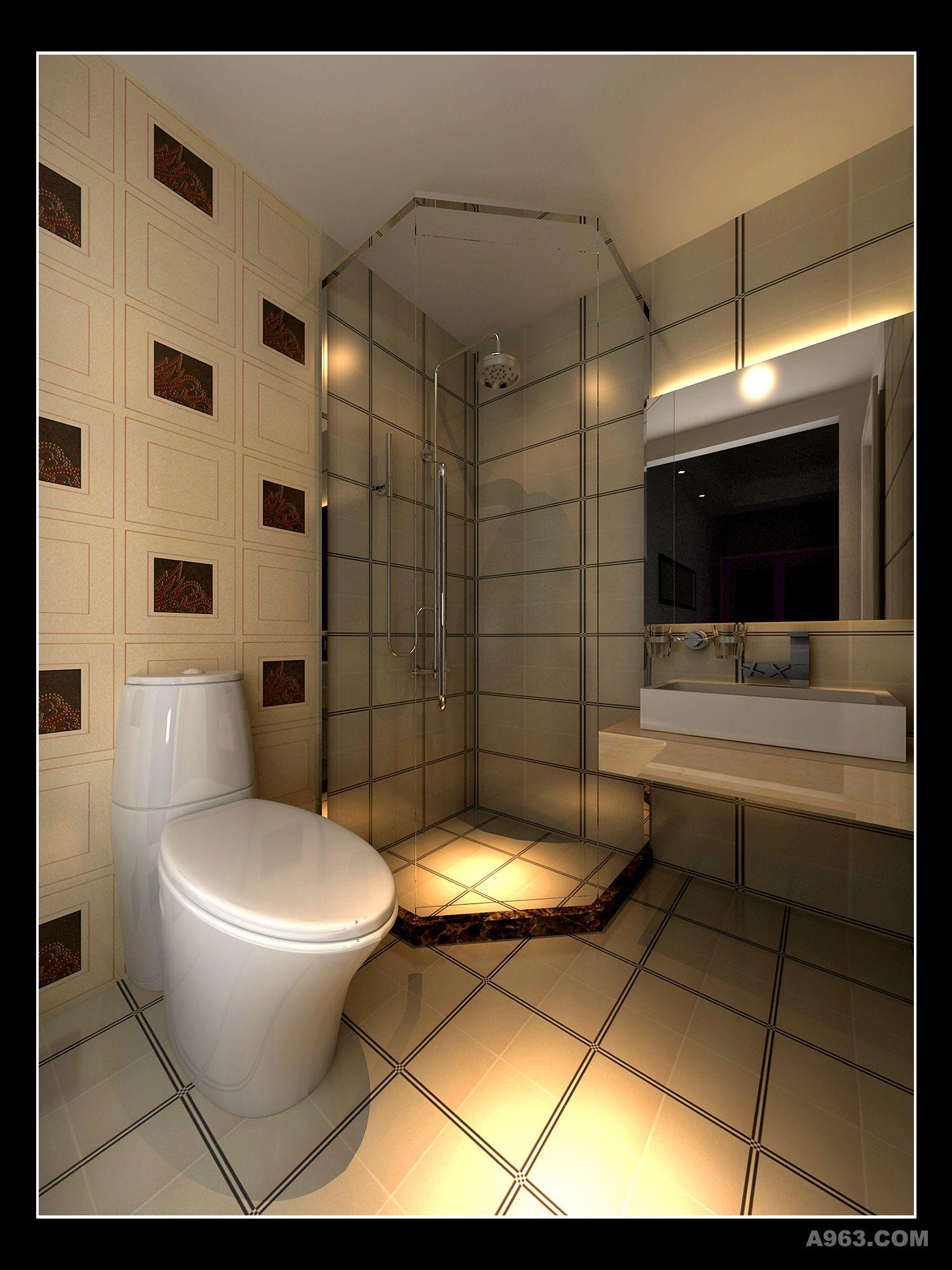 经济型宾馆,宾馆装修效果图,宾馆设计,宾馆卫生间